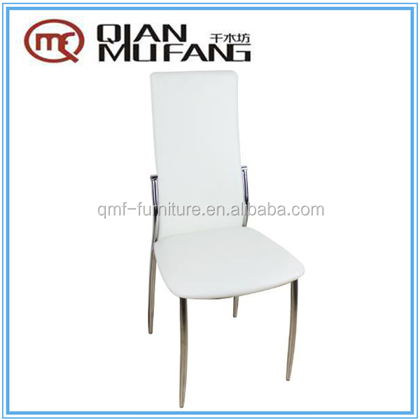 Italian style K/D cheap dinig chair electroplating legs and PVC