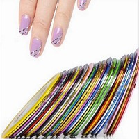 2016 New 1Pcs Mixed Colors Nail Rolls Striping Tape Line DIY Nail Art Tips Decoration Sticker Nails Care