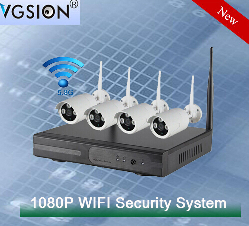 1080P Bullet CCTV Camera Kit 4ch Complete Video Surveillance Security System from VGSION