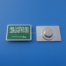 rectangle magnets backing Saudi Arabia collar pins / pin badge / lapel pins