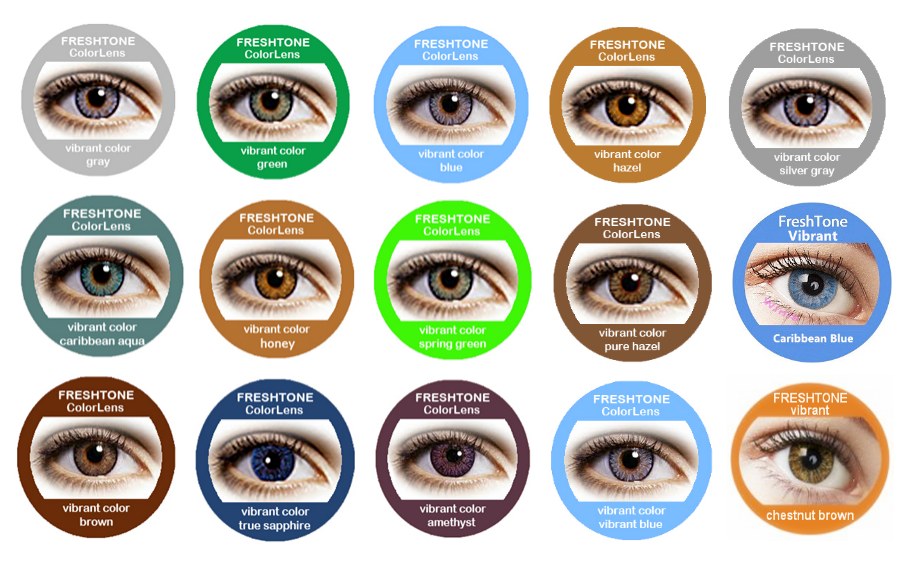 Hot sale 15 colors 1 year Freshtone Vibrant korean contact lenses wholesale color contact lens