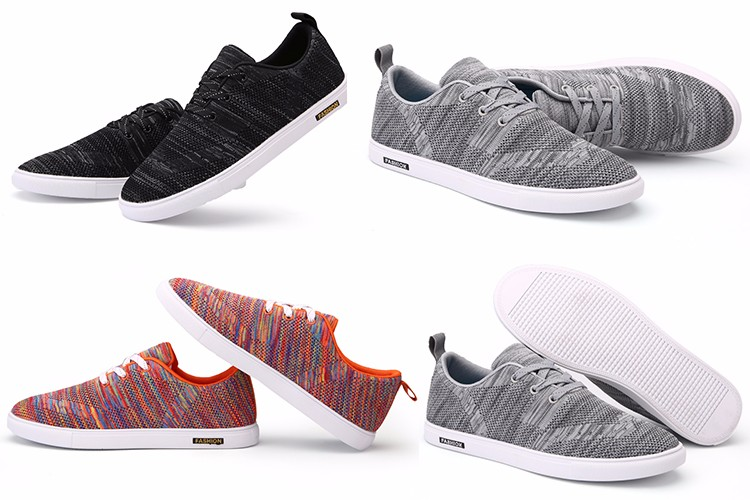 wholesale china supplier fashion super light running sport 2016 men casual knitting fabrict shoes
