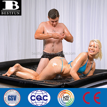 eco-friendly vinyl inflatable coumples body massage tub durable plastic luxe comfort blow up sex massage air mattress bed