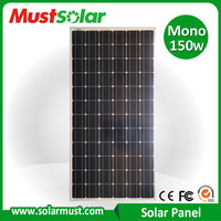 Factory Direct 150W Monocrystalline Solar Panel for Home Use