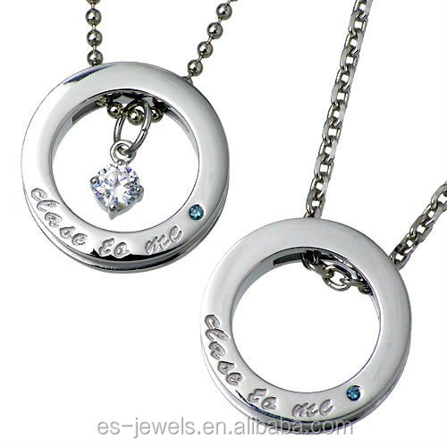Fashion Stainless Steel Diamond Pendant