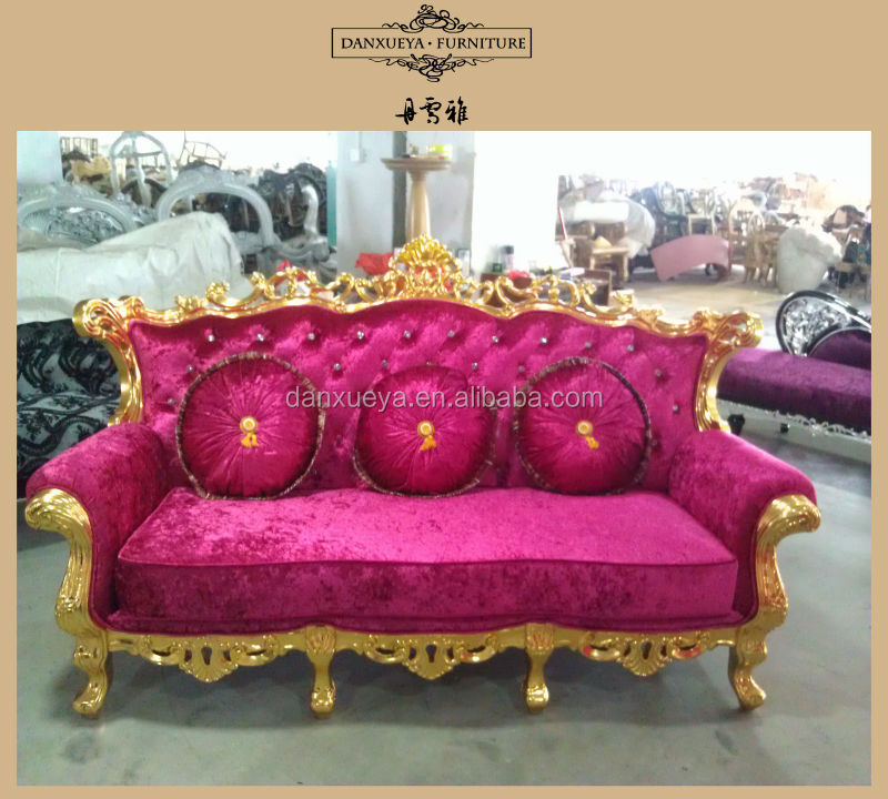 French vintage champagne silver frame color chesterfield velvet sofa ...