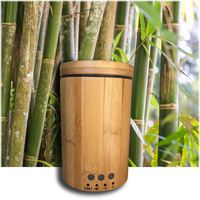 Water Bottle Wood Grain Aromatherapy Ultrasonic