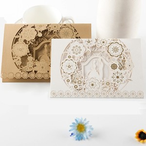 Factory Direct Selling Laser Cut Wedding Card Invitations High Quality Wedding Card