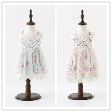 Hu Sunshine 2018 New Baby Girls Cute Dazzel Lace Summer Gorls Dresses, Princess Kids Fairy Sweet Clothes 5 pcs/lot, Baby Clothes