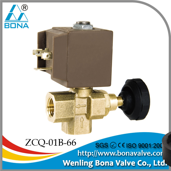 "China Solenoid Valve Manufacturer Bona Valve 1/4"" Flow Control Steam Brass Solenoid Valve SAMA-177 type"