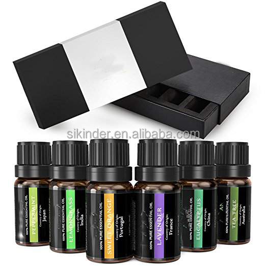 Essential <strong>oil</strong> 100% Pure Essential <strong>Oil</strong> Aromatherapy Gift Set 6 pure <strong>oil</strong> 10ml private