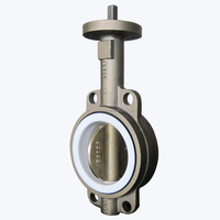 Gear Operated Manual Drive Wafer type Butterfly Valve