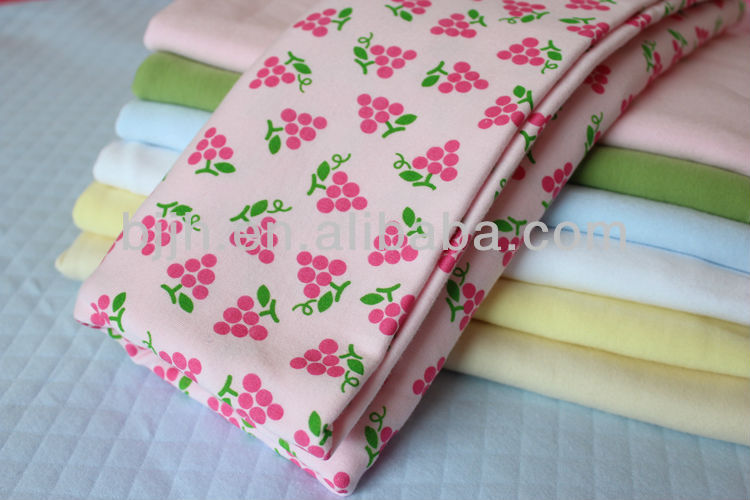 New design printed polyster and cotton fabric for baby quilt