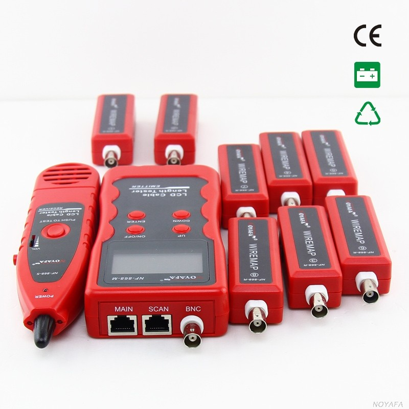 NF-868W cable finder tone generator / cable length tester with 8 remotes