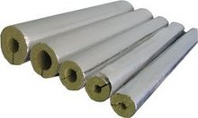 Pipe insulation , Rockwool pipe , pipe section, pipe