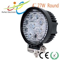 High quality 27w light for off road SUV cars round car led work light