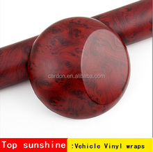 White granite Self-adhesive vinyl contact wood grain film sticker roll for car interior