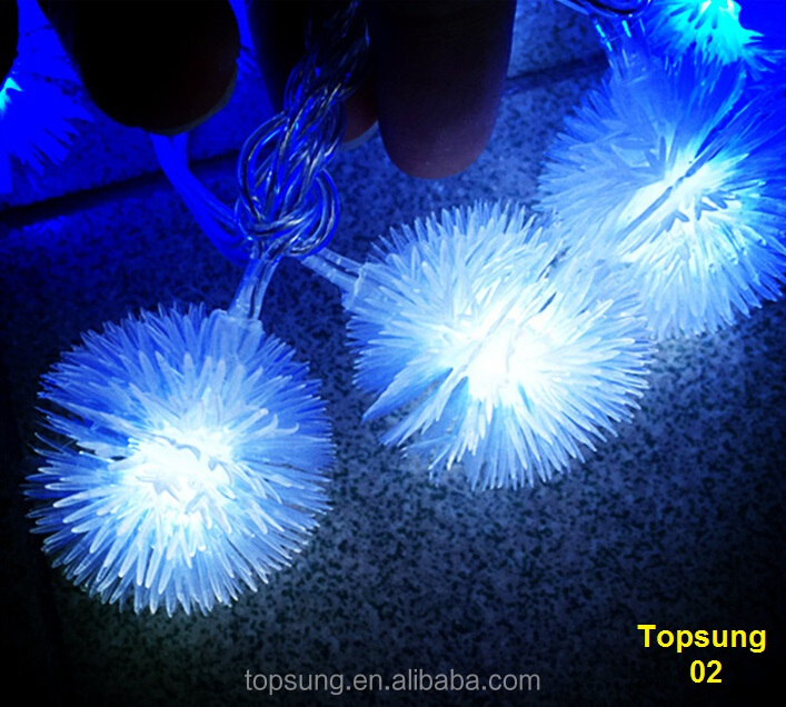 2016 wholesale silly string 10m 110v connectable led christmas decoration