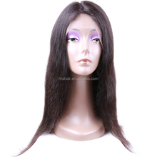 Best Quality u part human hair wigs,blue human hair wig, human hair short bob lace front wig