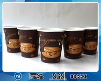 hot sale good quality 8oz customized single wall double PE cold drink disposable paper cup