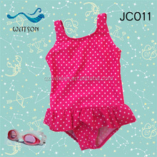 pink dot printing young little girl swimsuit models