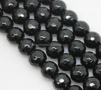 8mm wholesale faceted black agate gemstone beads