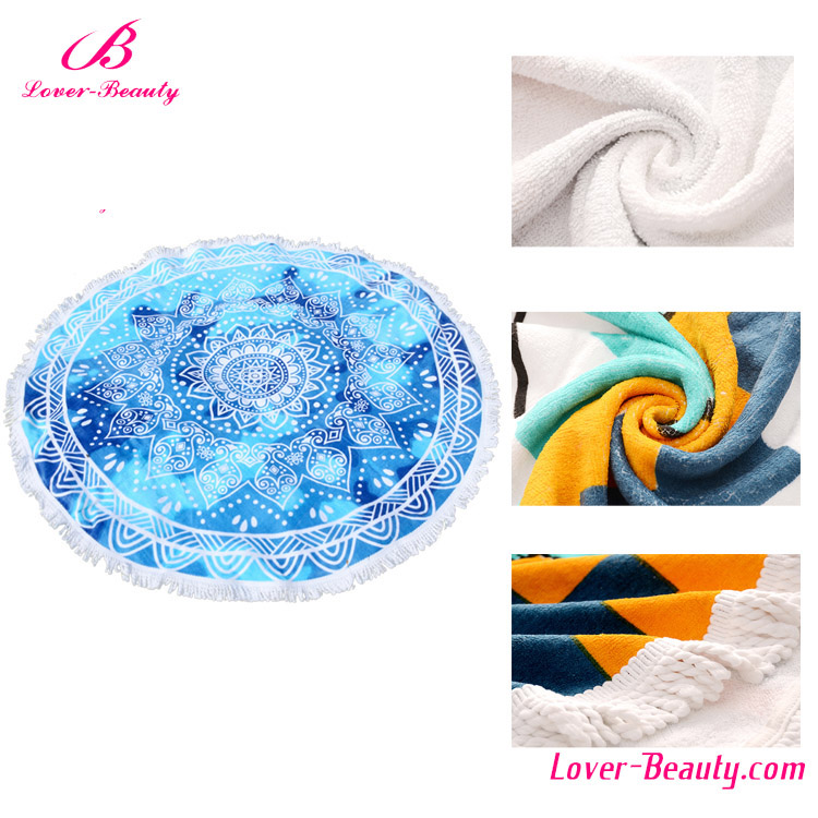 Wholesale fashion design your own 100% <strong>cotton</strong> round beach towels