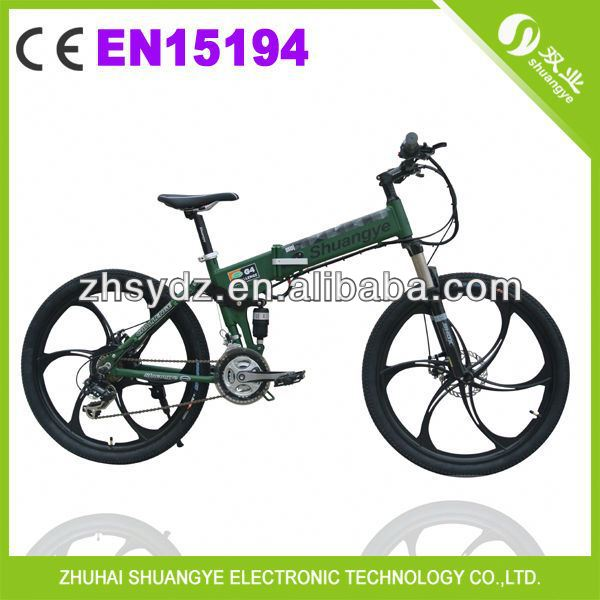 "2014 newest 26"" folding electric beach cruiser bicycle G4"