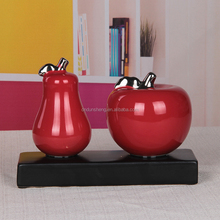 Ceramic & Enamel Material and Home Decoration Use ceramic pear decoration