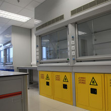 Resistance to acid and alkali laboratory fume chamber cupboards