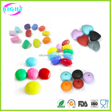 Colorful food grade silicone teething beads for necklace