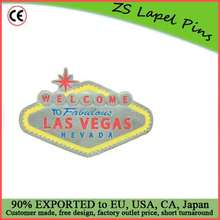 Free artwork design customized quality Welcome to Las Vegas Belt Buckle