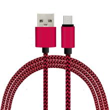 2016 mobile phone micro usb nylon braided data cable For Samsung,iPhone 5 Cable