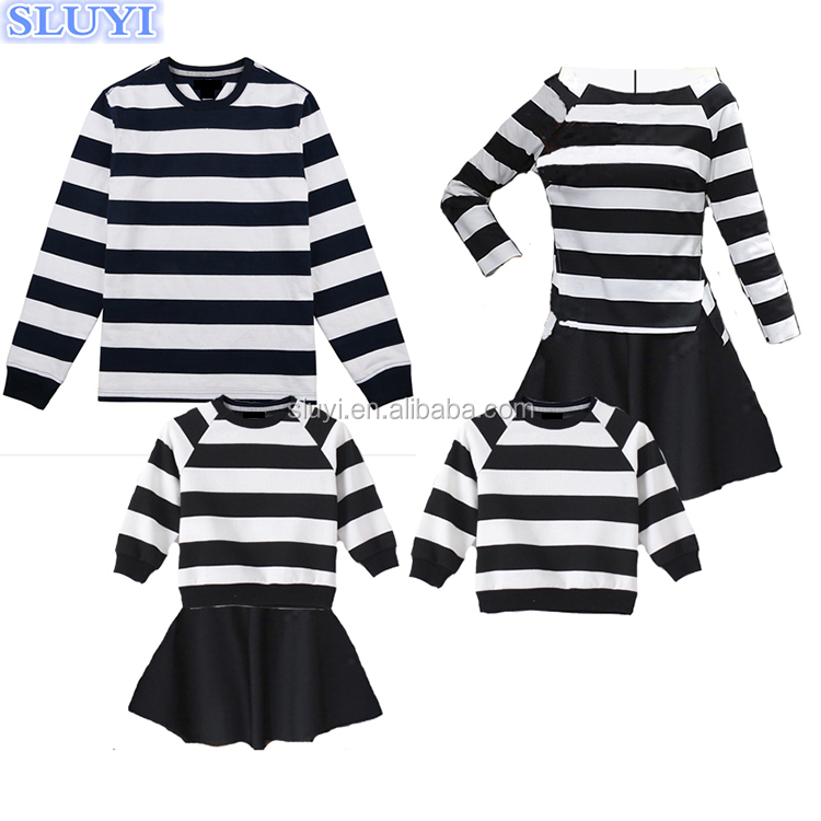 Fashion chrismas wear wholesale father mother and child family set clothes