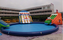 Super giant inflatable water slide/inflatable water amusement park for kids and adults