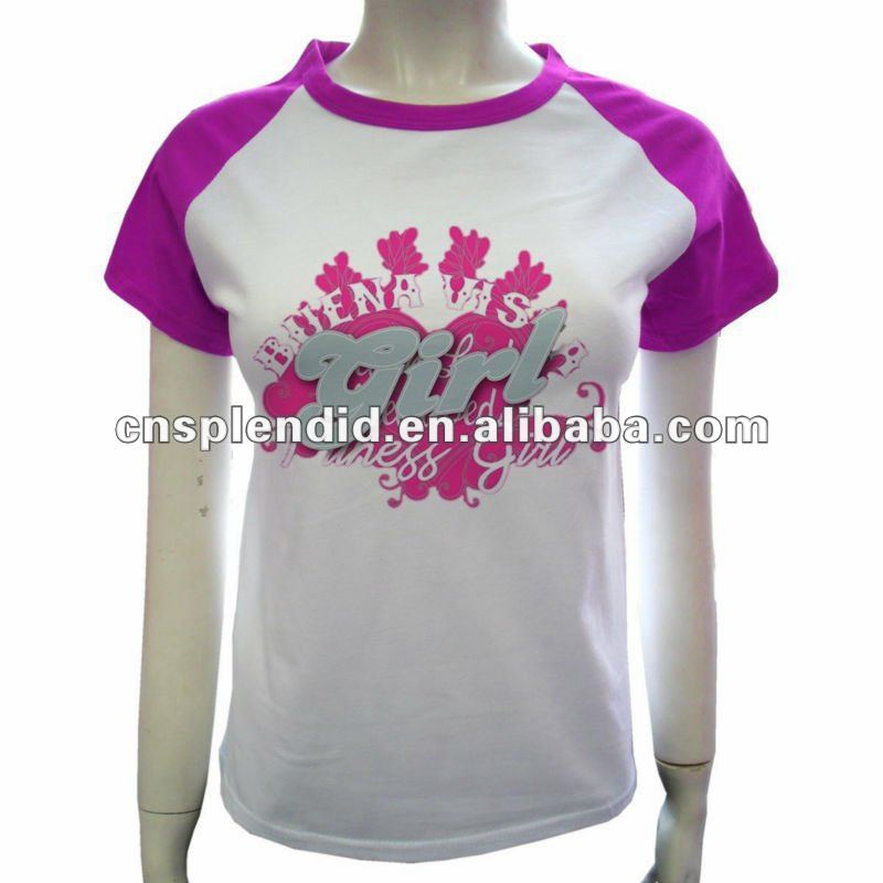 korea design custom printing design t-shirts for girls