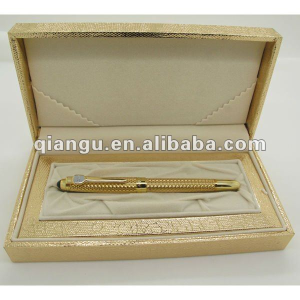 Metal Stylish gold Roller Pen Fountain pen with case for luxury gift