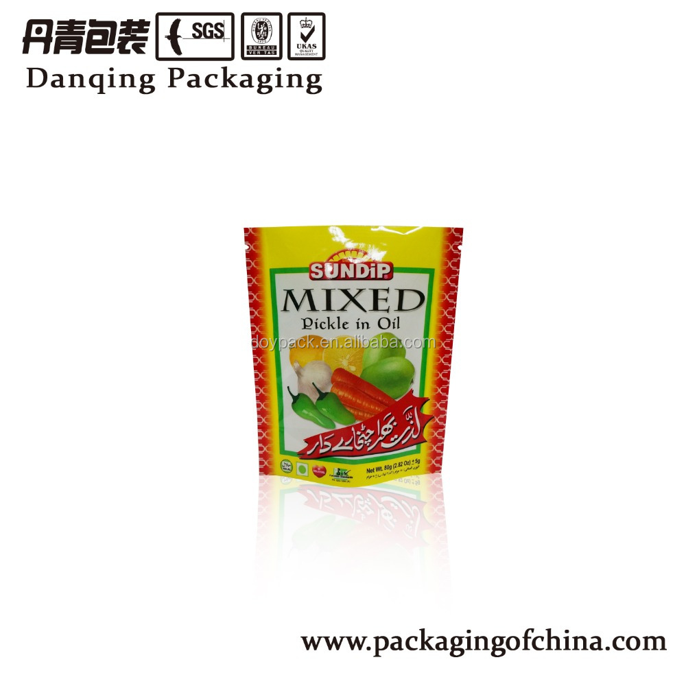 Stand up Retort plastic material Pouch for Pickle