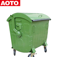 stainless steel recycling trash bin with round lid