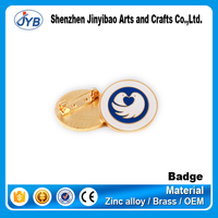 custom color plating round eagle badge with clasp