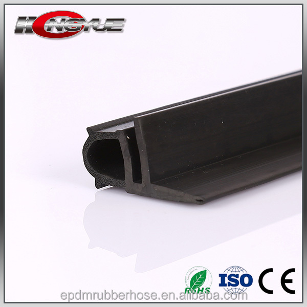 customize high quality Anti-collision shock absorb extruded flocking rubber seal strip