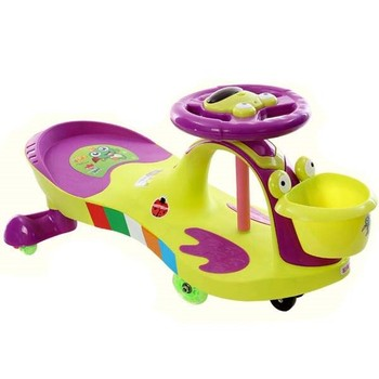 China factory popular baby toy swing cheap plastic kids driving cars
