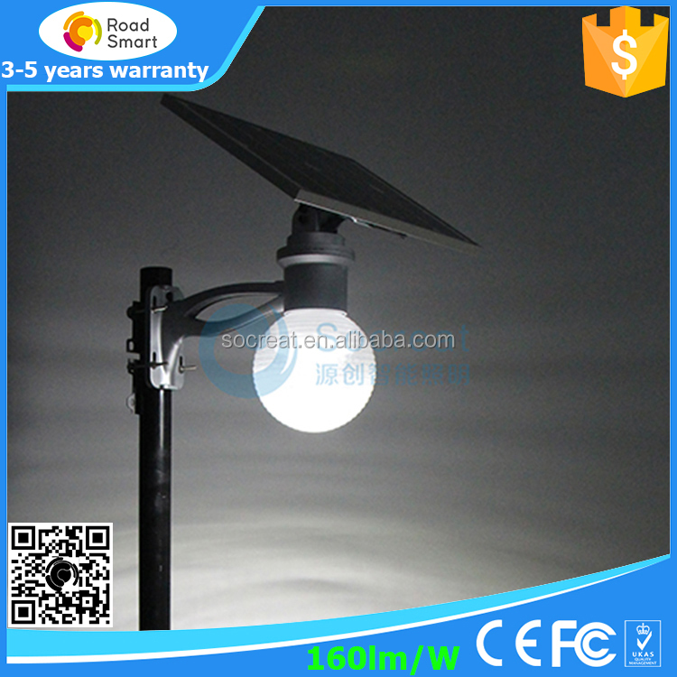 cast iron solar wind vertical street light with panel