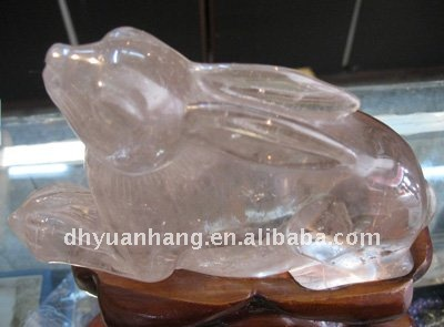 excellent Natural clear quartz crystal animal figurines,carved crystal animals