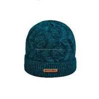 NEW ARRIVAL CUSTOM LEATHER PATCH LOGO WINTER BEANIE HATS