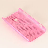 Pink Rubberized Hard Case for Sony Ericsson Xperia X10a