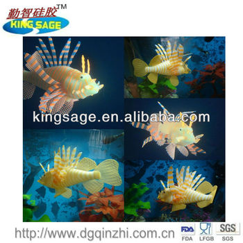 Glowing effect silicone aquarium fish for sale