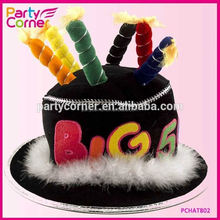 50th Birthday Candle Hat Black