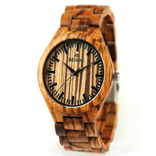 wholesale Newest design Bamboo watch Custom wood watches