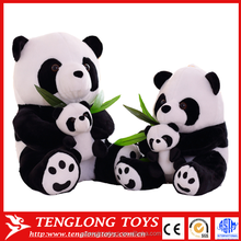 Adorable Mother & Son With Bamboo Plush Stuffed Cute giant Panda toy